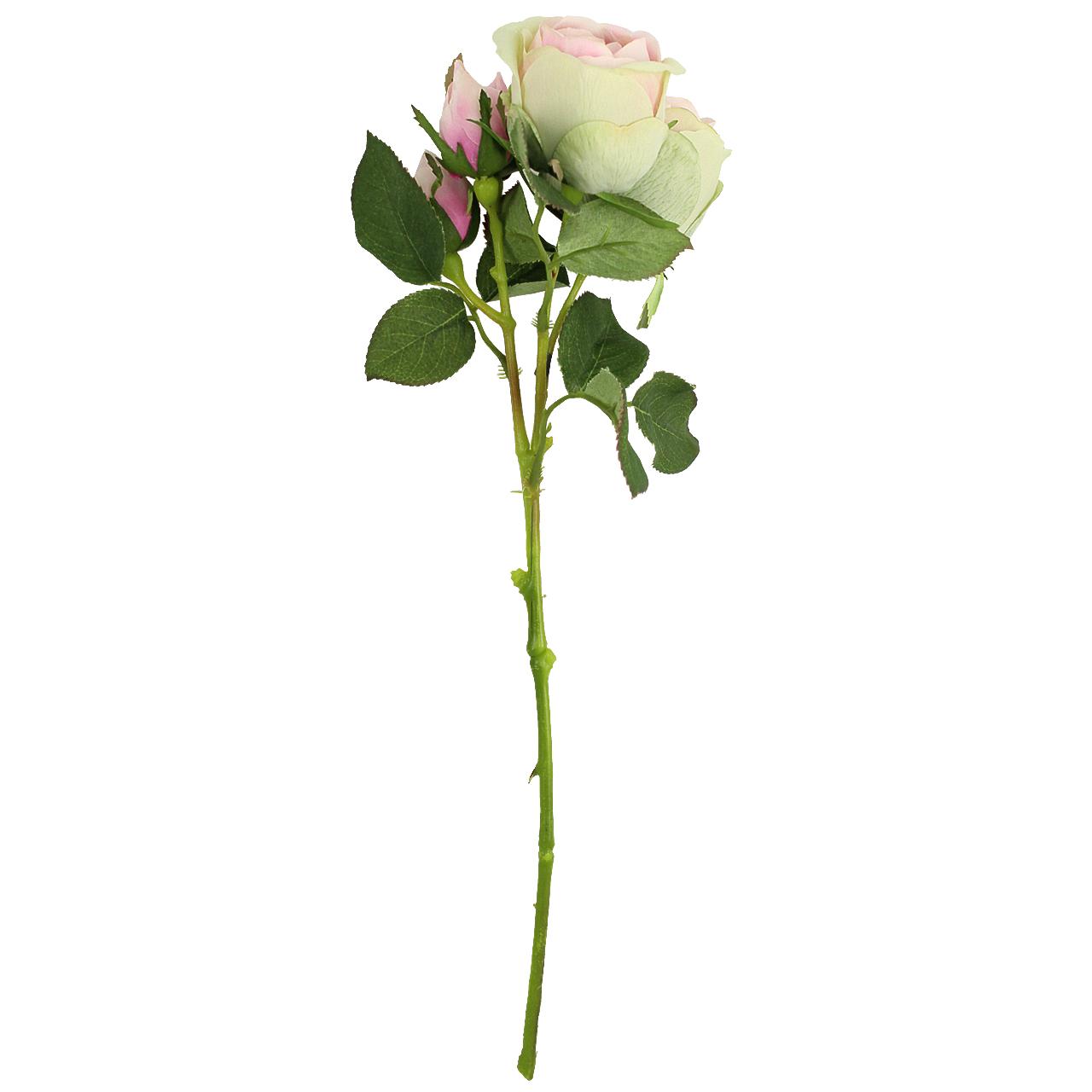 Floare Artificiala Trandafir Roz 40 Cm