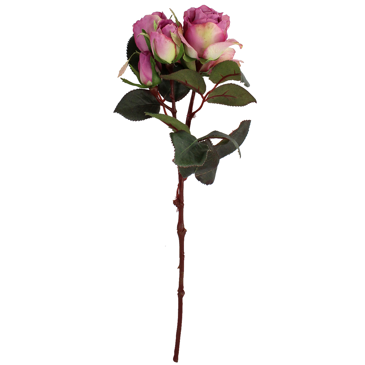 Floare Artificiala Trandafir Mov 40 Cm