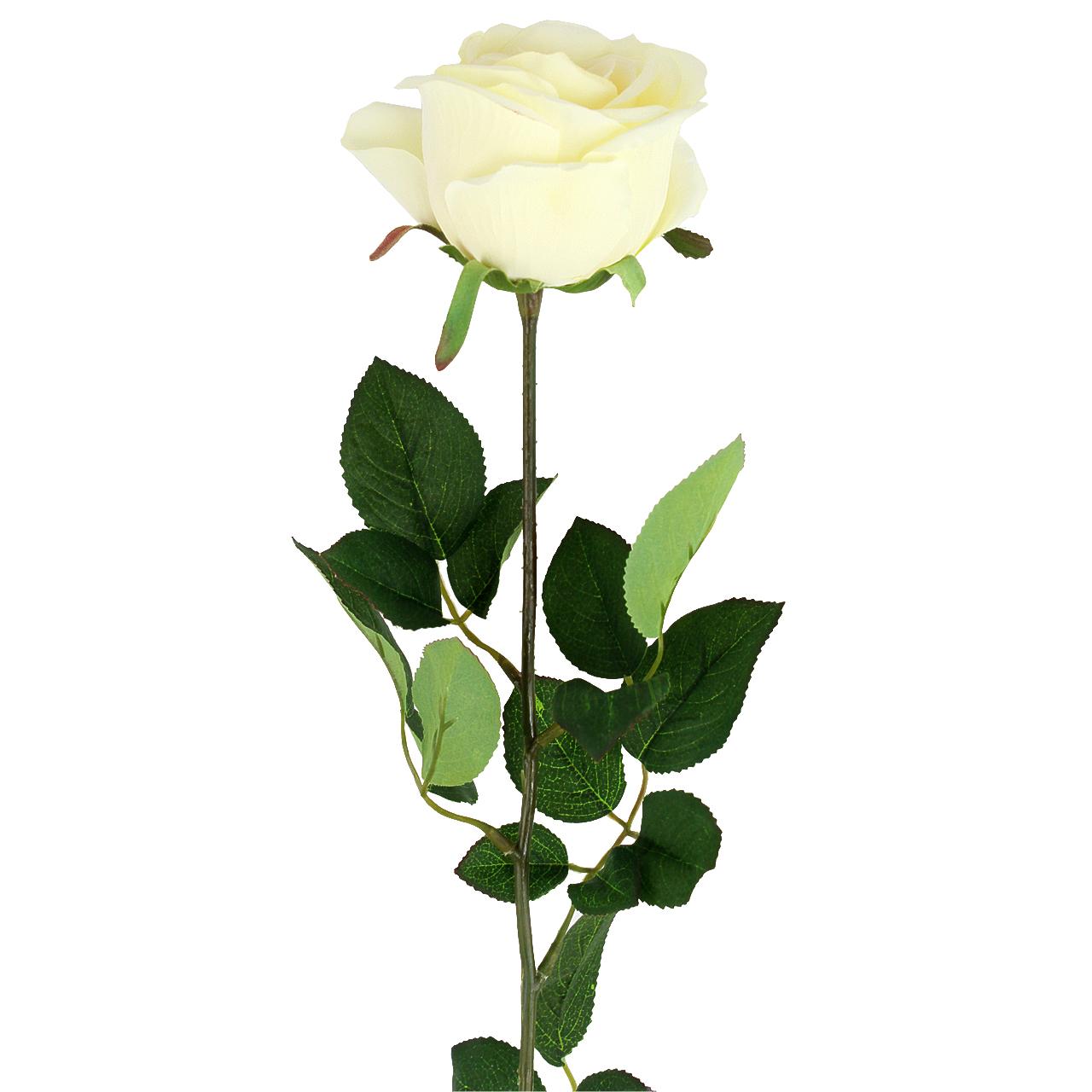 Floare Artificiala Trandafir Crem 65 Cm