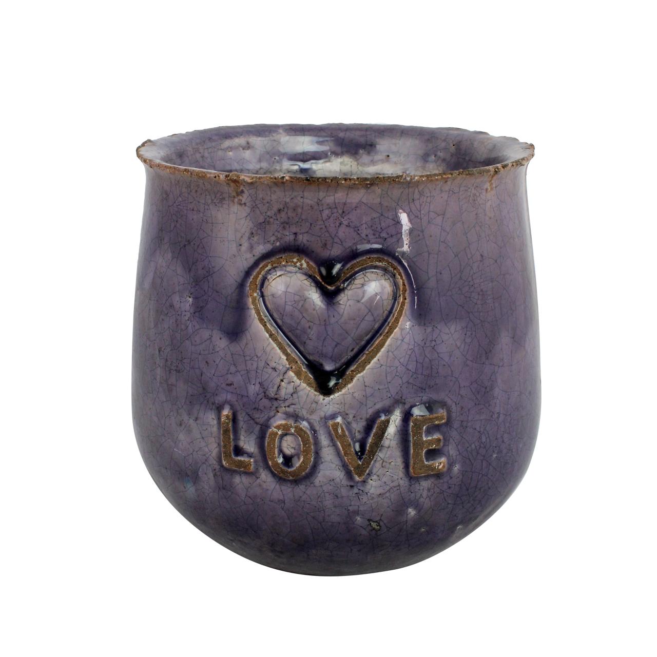Ghiveci Din Ceramica Mov 21 Cm