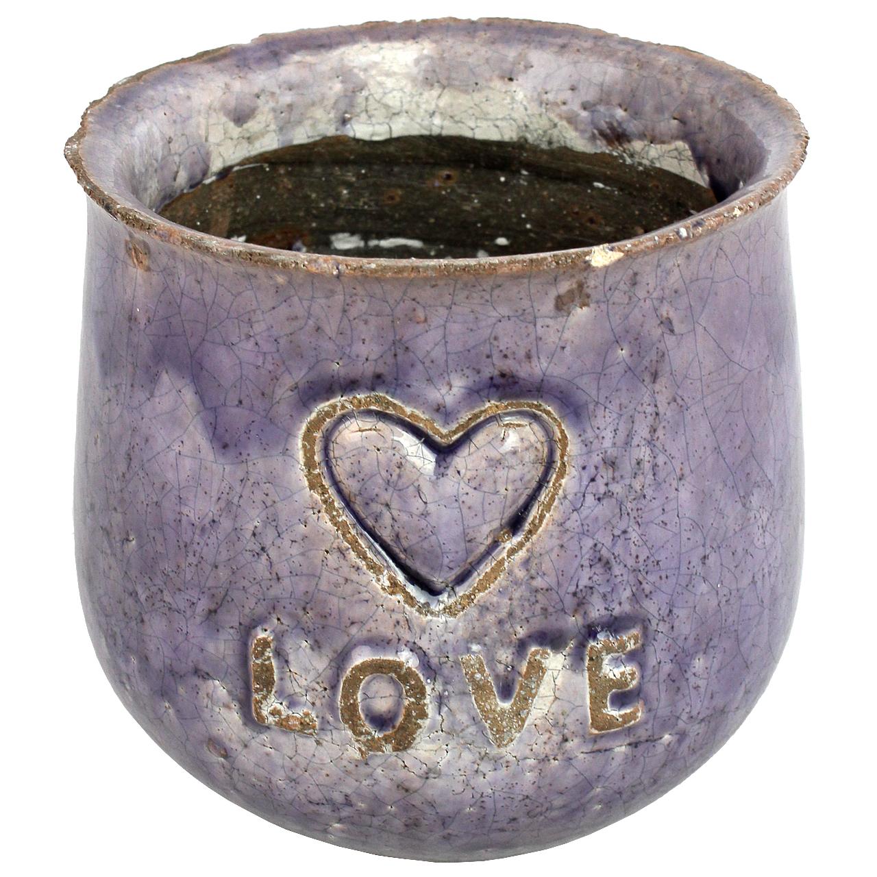 Ghiveci Din Ceramica Mov 16 Cm