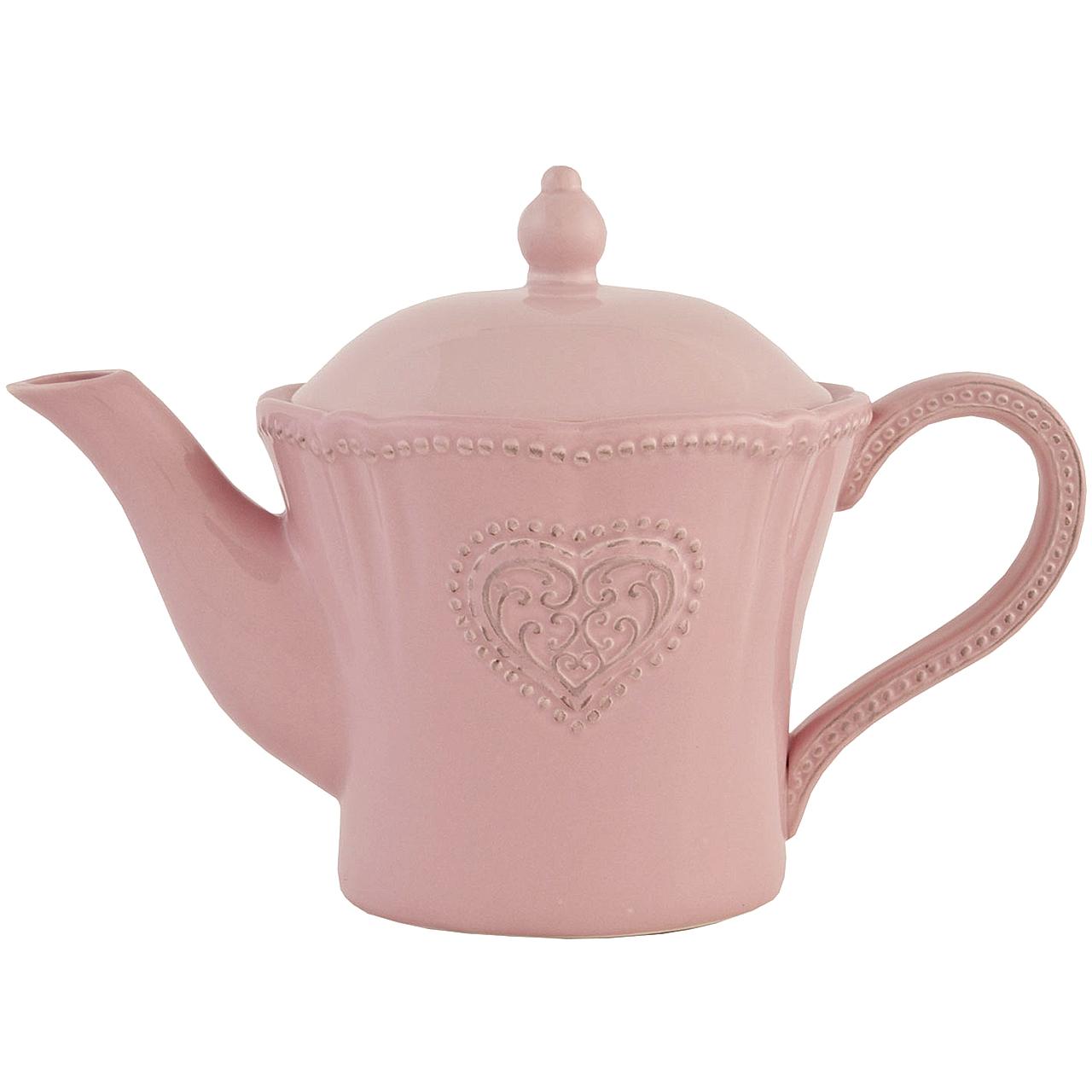 Ceainic Din Ceramica Roz