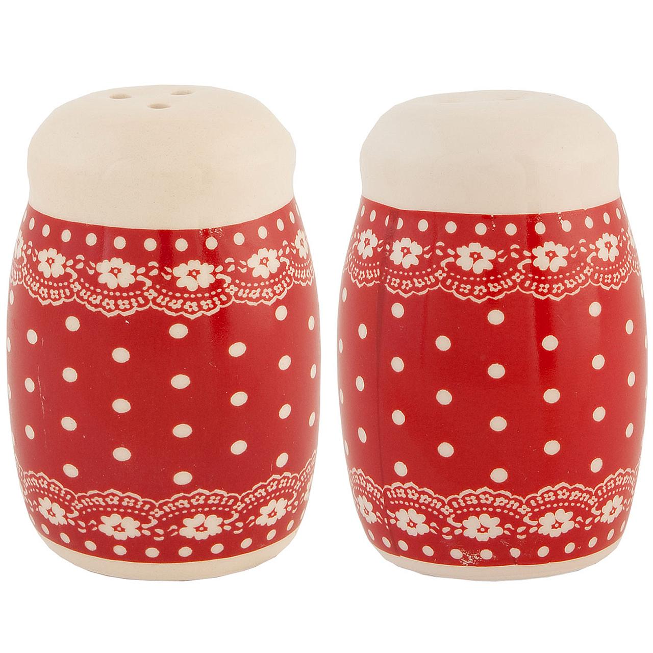 Set Cu Solnita Si Pipernita Din Ceramica Rosie Cu