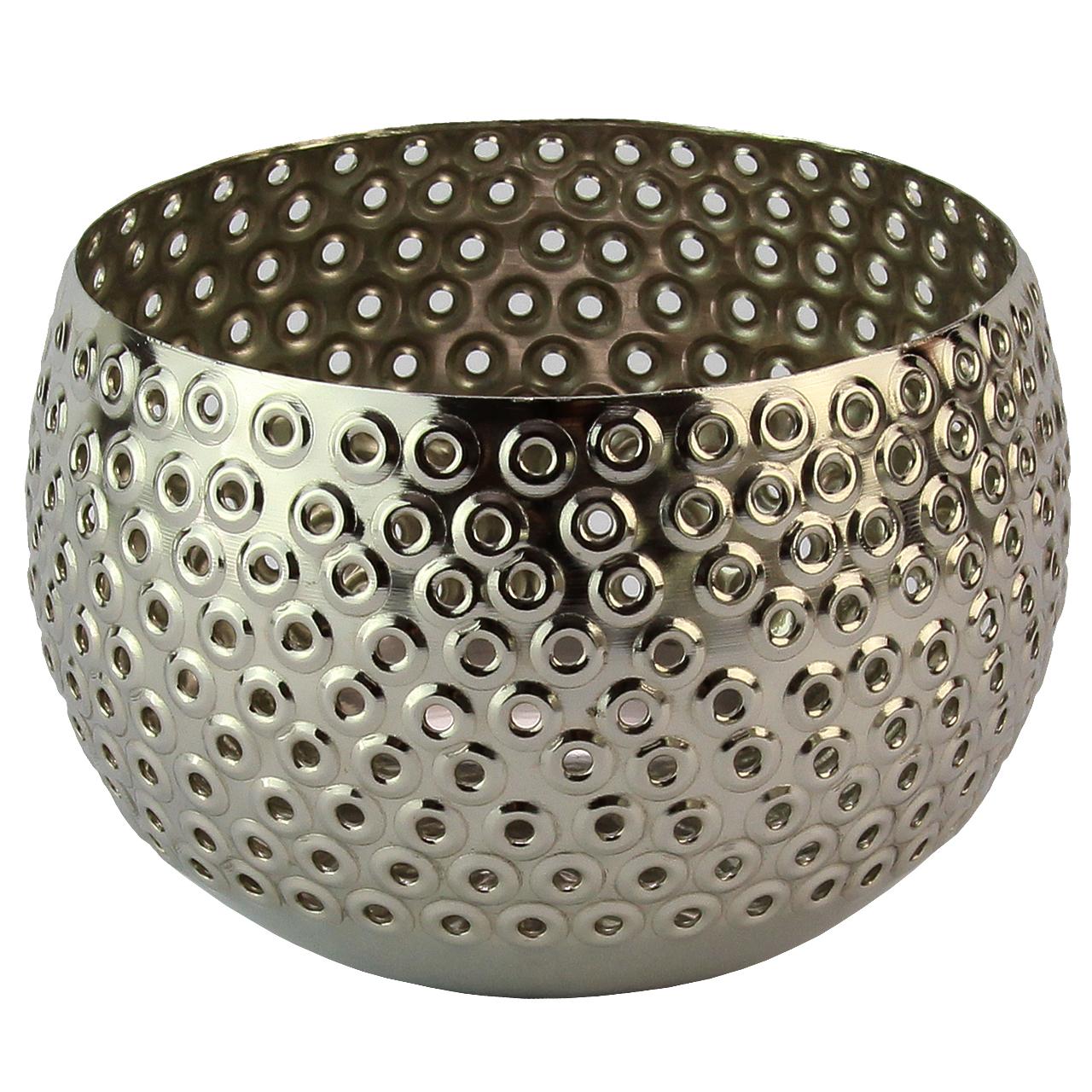 Bol Din Metal Argintiu 13 Cm