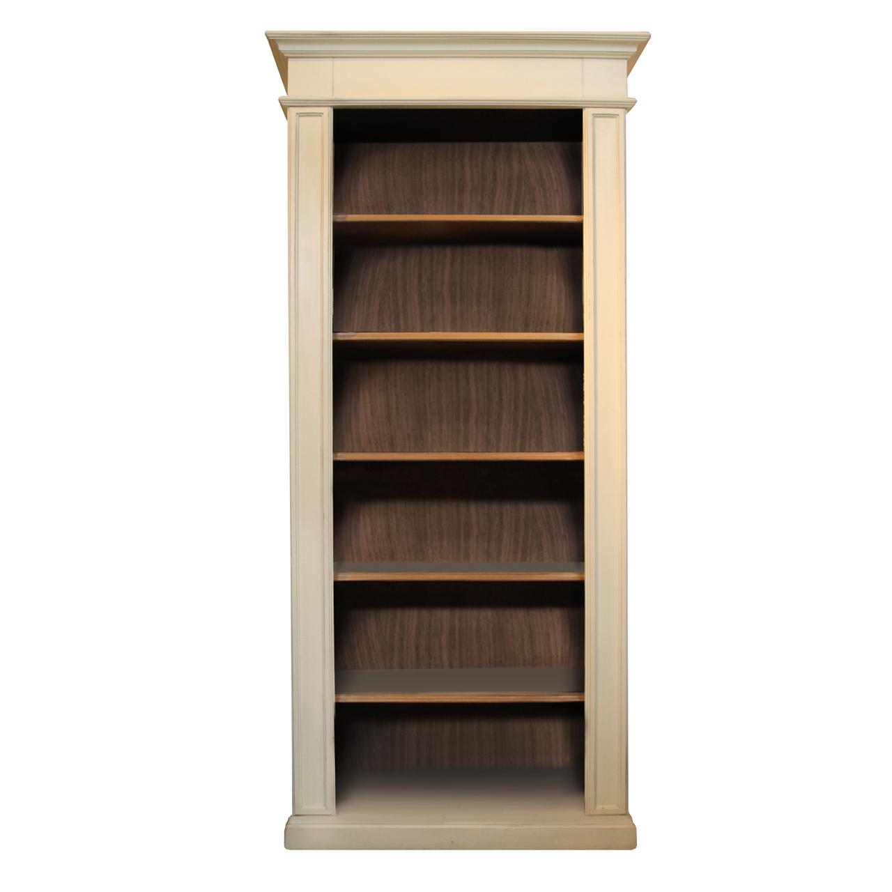 Biblioteca Grace Din Lemn Crem Cu Maro Deschis 93x40x205 Cm