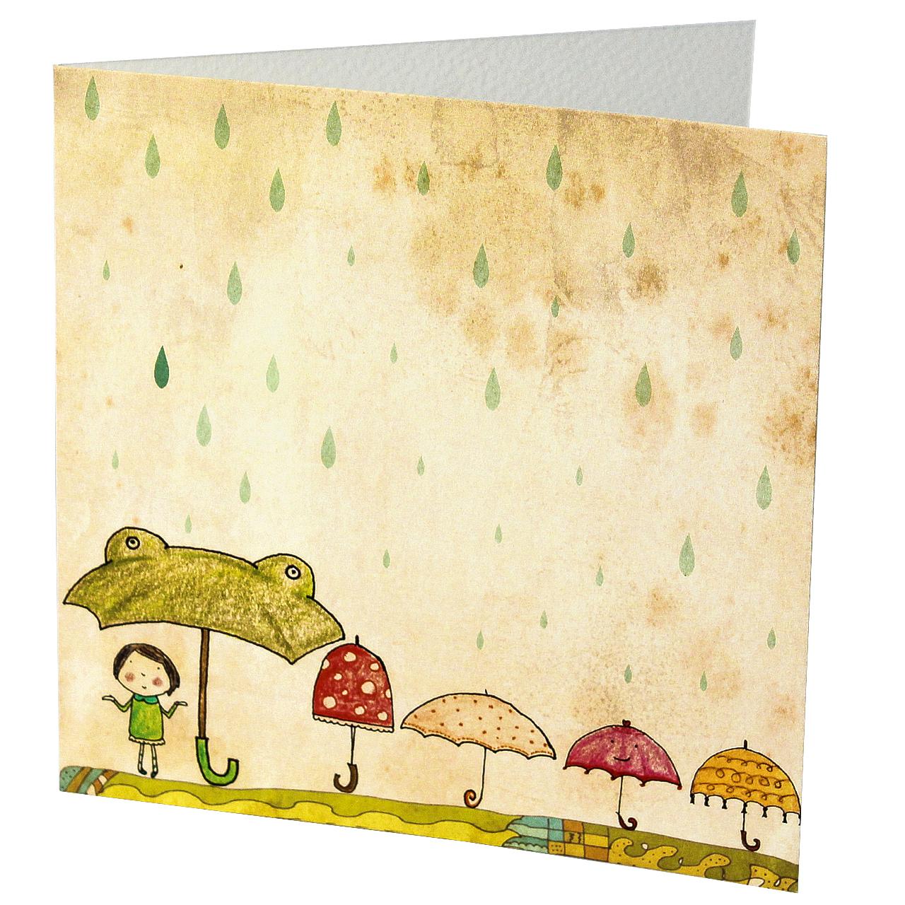 Felicitare Din Carton Cu Umbrele