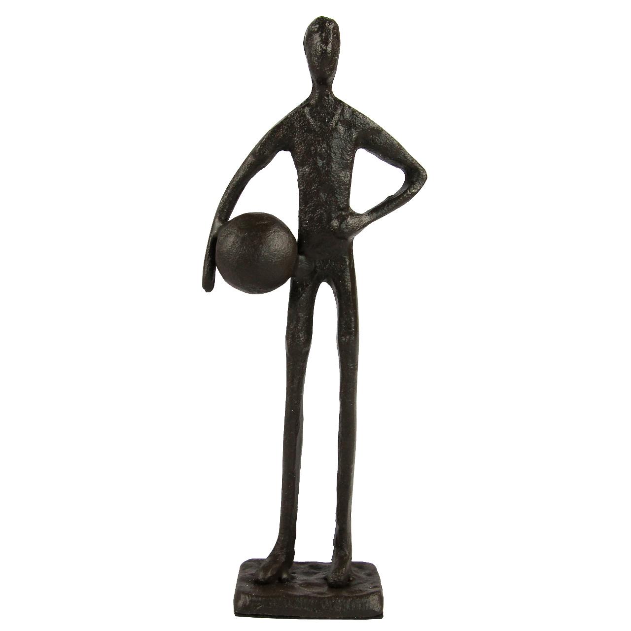Statueta Fotbalist Din Metal Negru