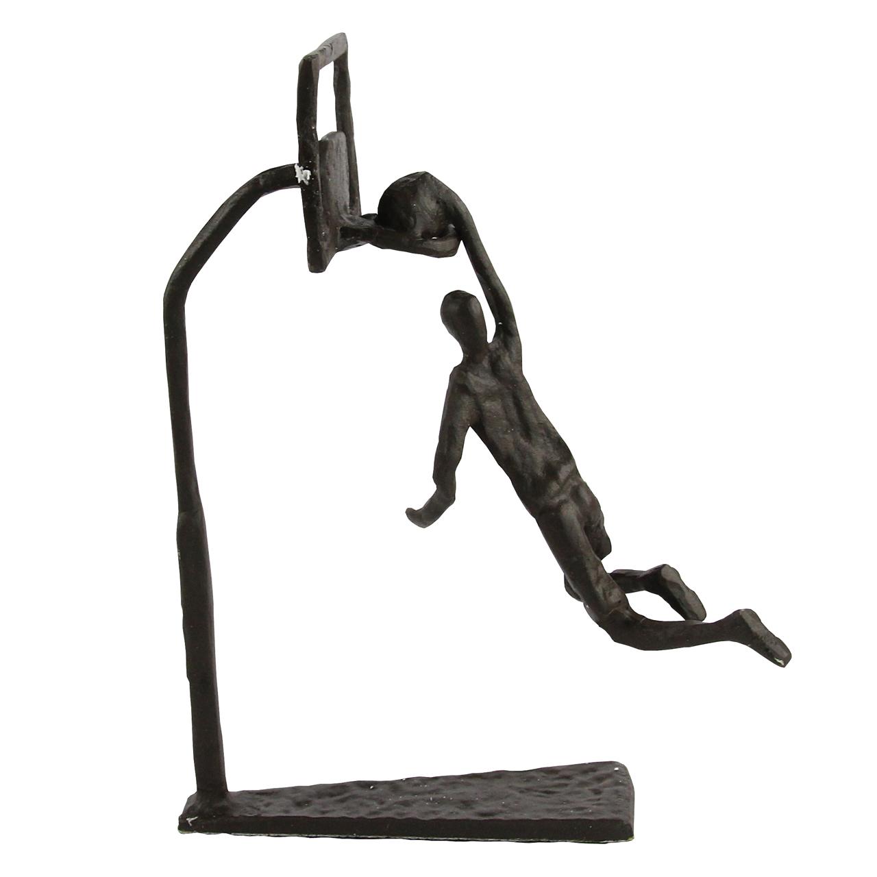 Statueta Baschetbalist Din Metal Negru