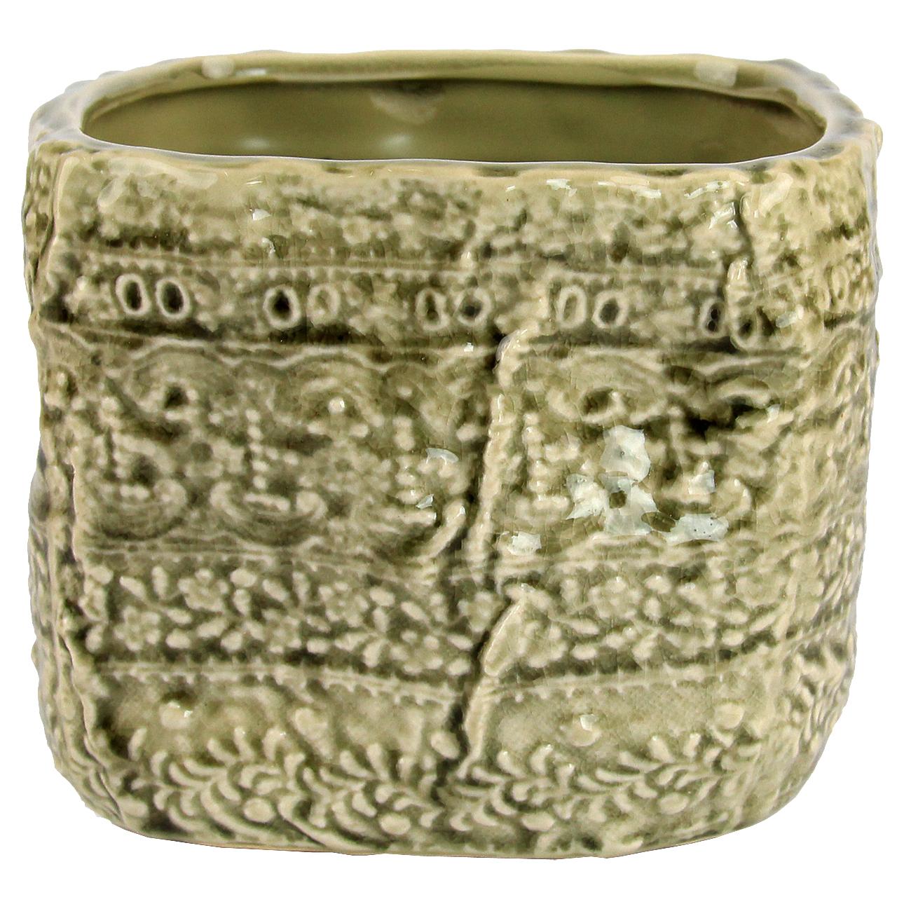 Ghiveci Din Ceramica Crem 11 Cm