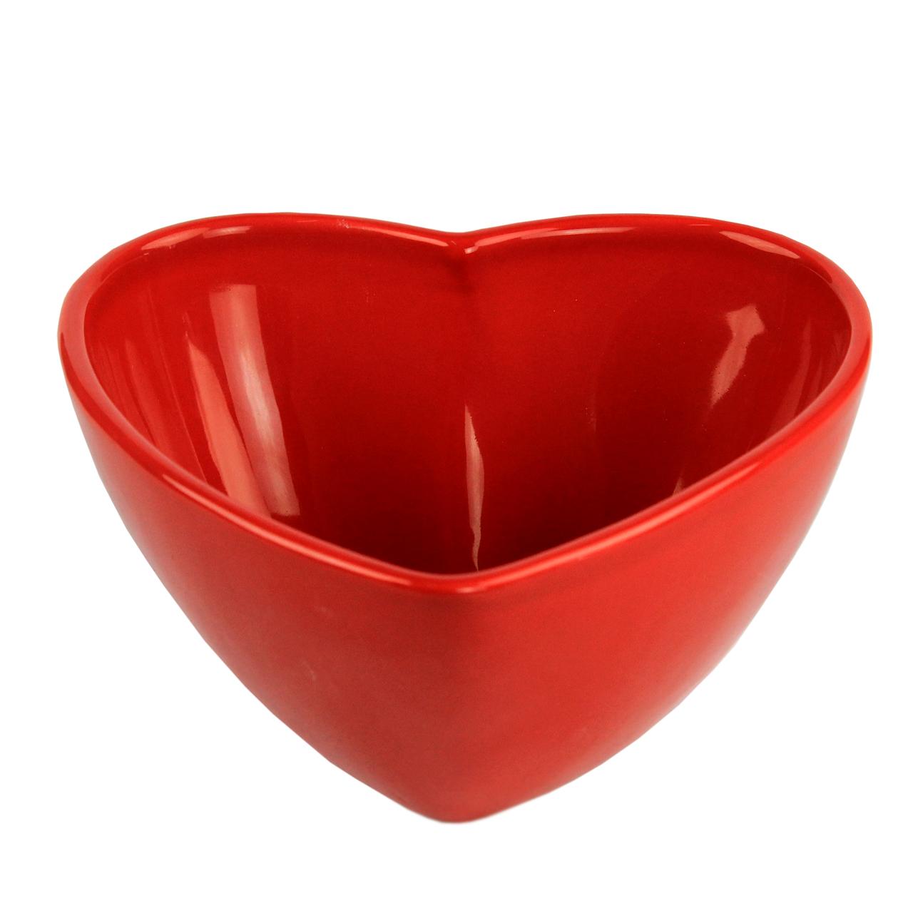 Bol Inima Din Ceramica Rosie 8 Cm