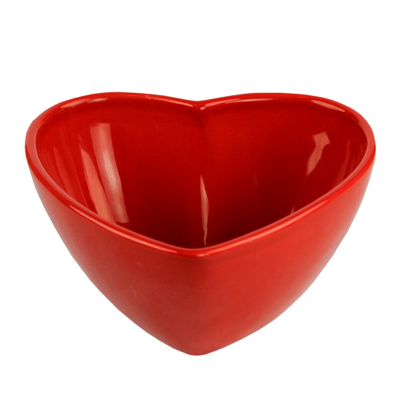 Bol Inima Din Ceramica Rosie 10 Cm