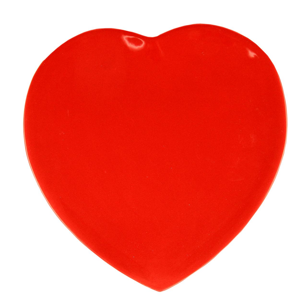Farfurie Heart Din Ceramica Rosie 33 Cm
