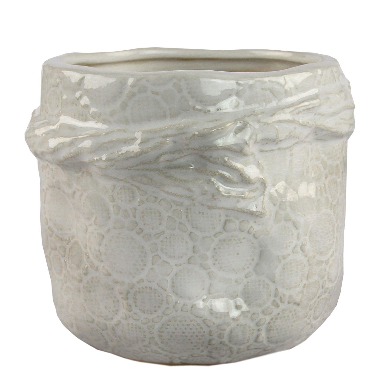 Ghiveci Din Ceramica Alba 12 Cm