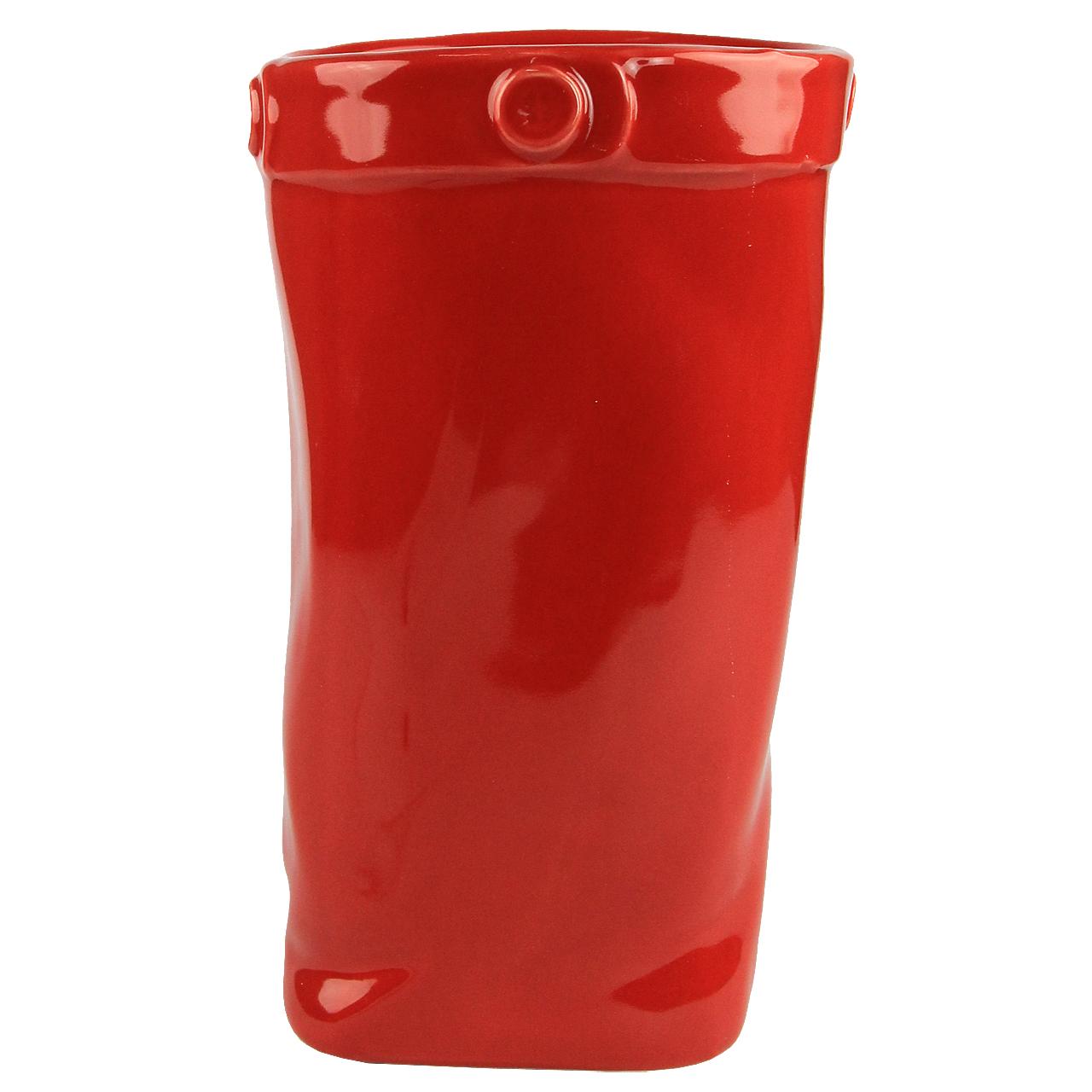 Vaza Din Ceramica Rosie 21 Cm