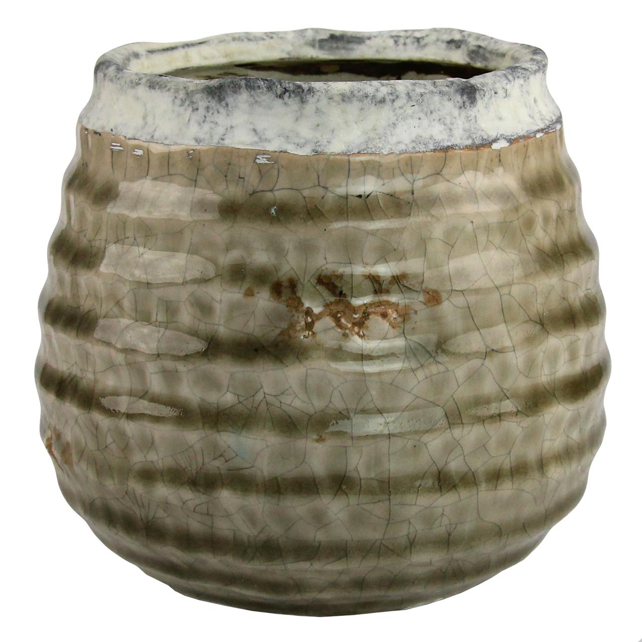 Ghiveci Din Ceramica Maro 12 Cm