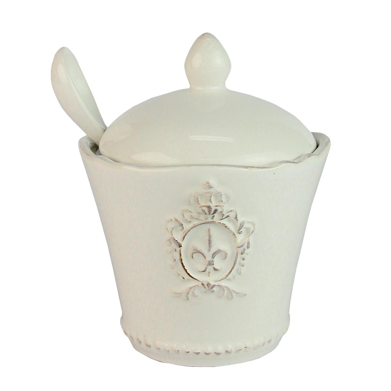 Recipient Pentru Zahar Din Ceramica Alba