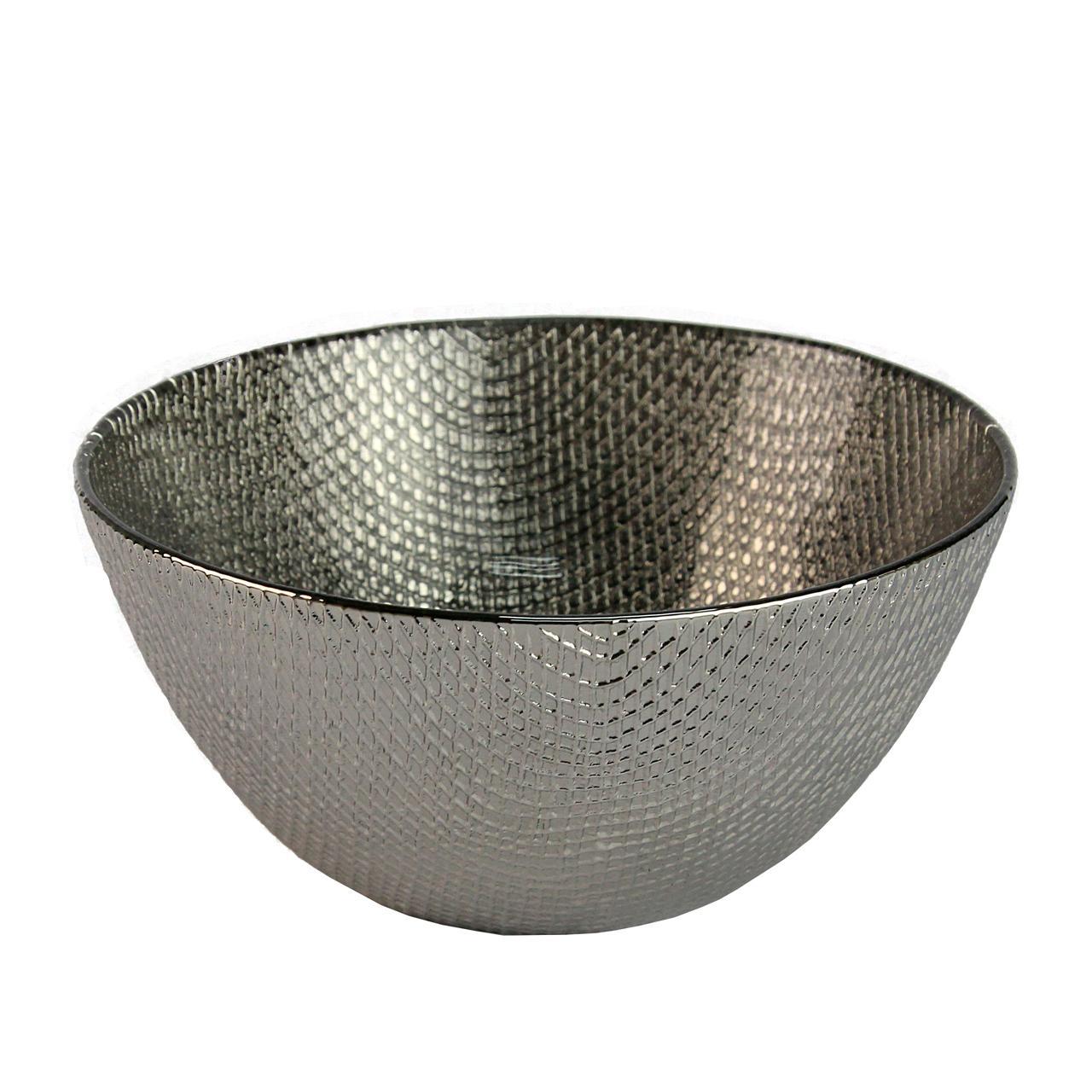 Bol Din Sticla Argintie 17 Cm