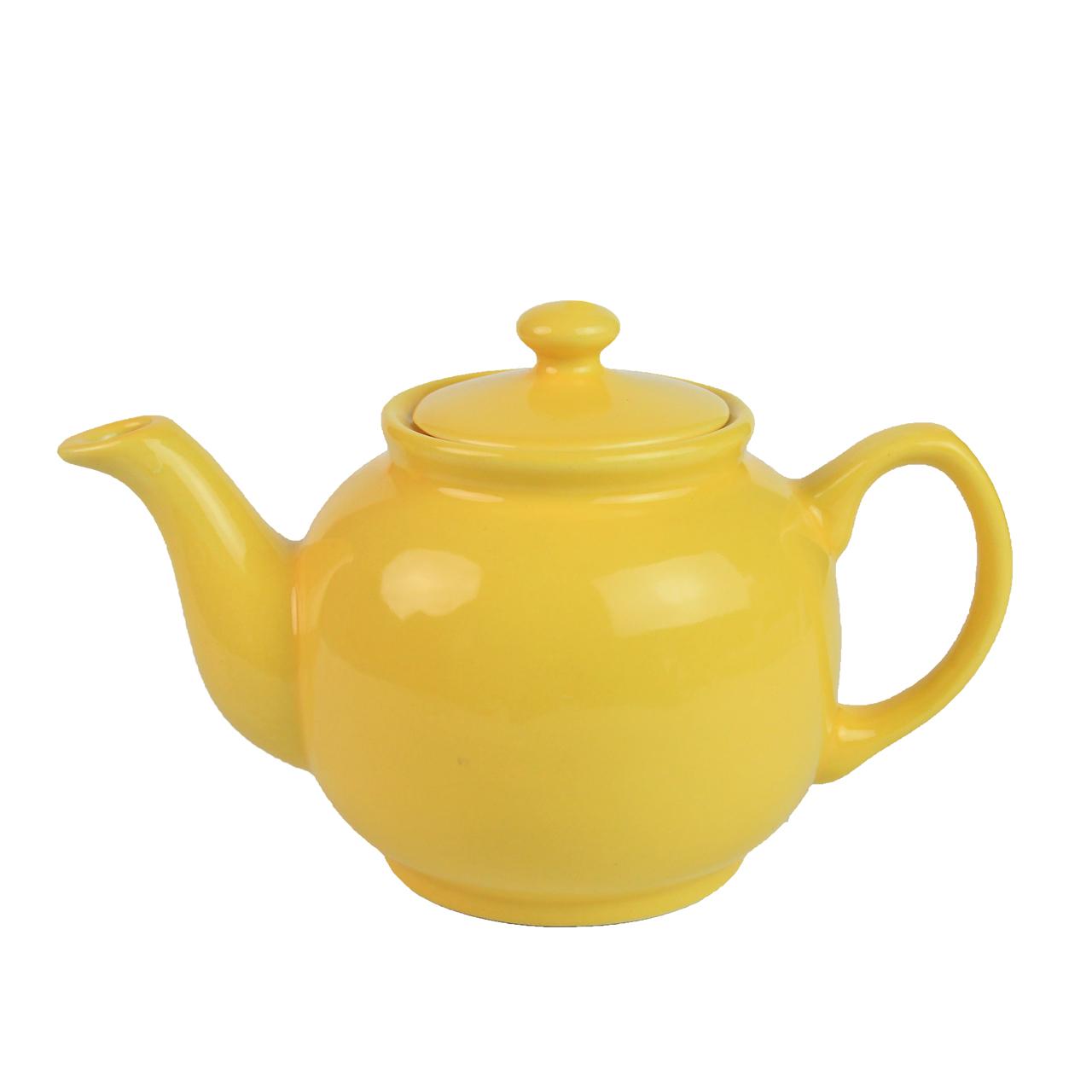 Ceainic Din Ceramica Galbena