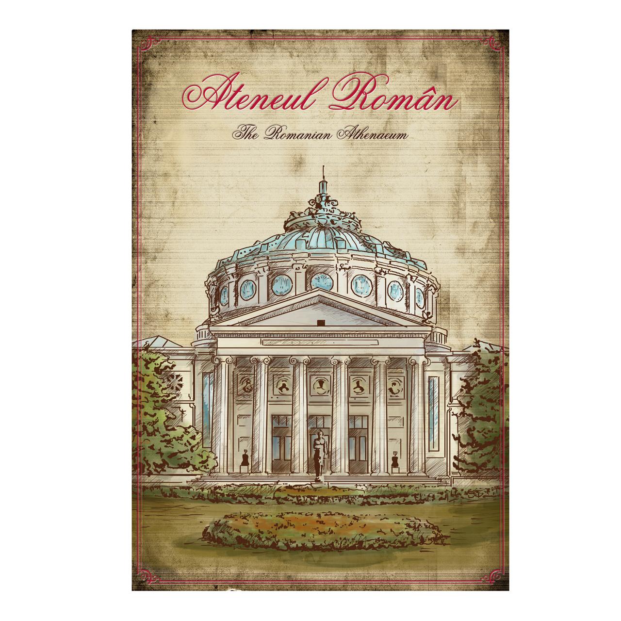 Carte Postala Din Carton Cu Ateneul Roman