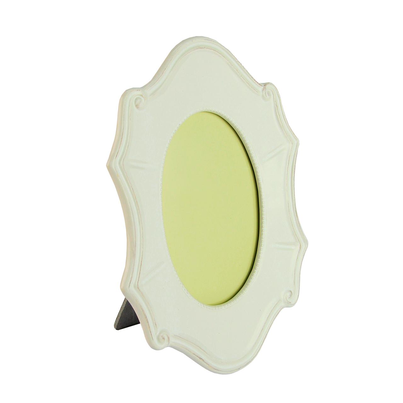 Rama Ovala Din Ceramica Alba 15x20 Cm