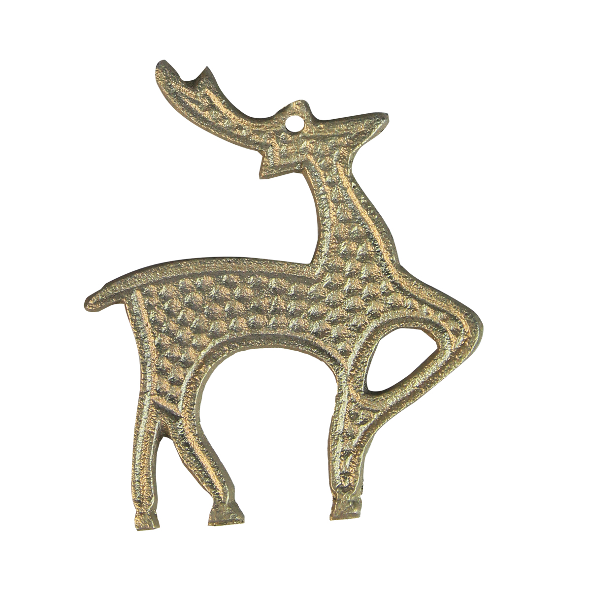 Decoratiune Ren Din Metal Argintiu