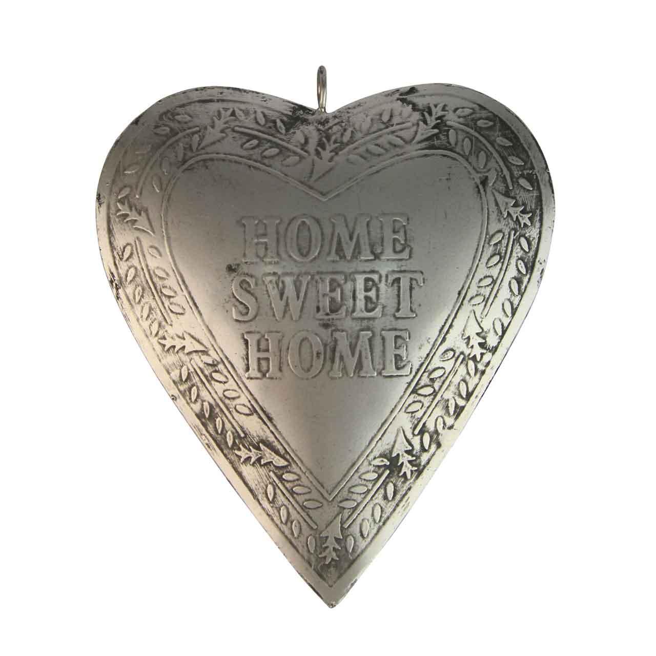 Decoratiune Inima Din Metal Argintiu 16 Cm