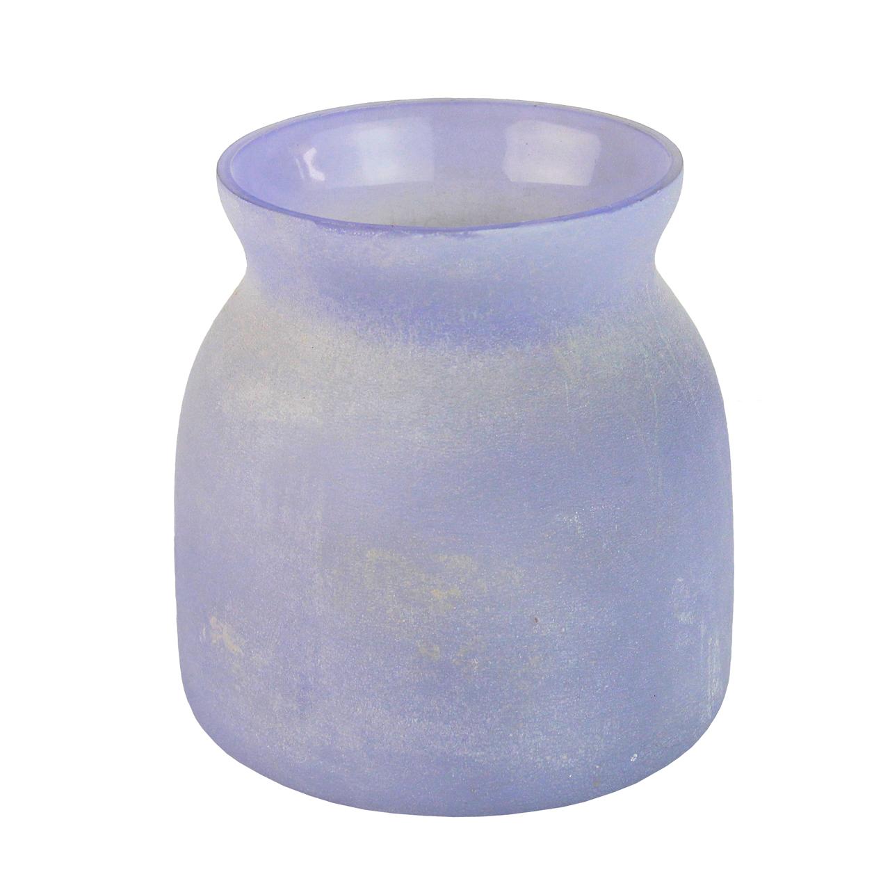 Candela Din Sticla Albastra 12 Cm