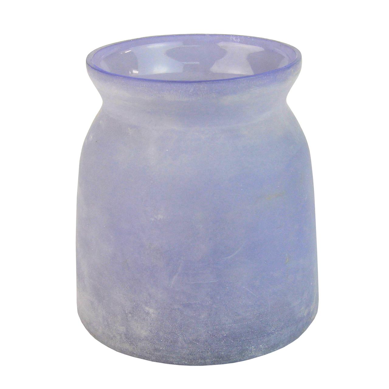 Candela Din Sticla Albastra 16 Cm