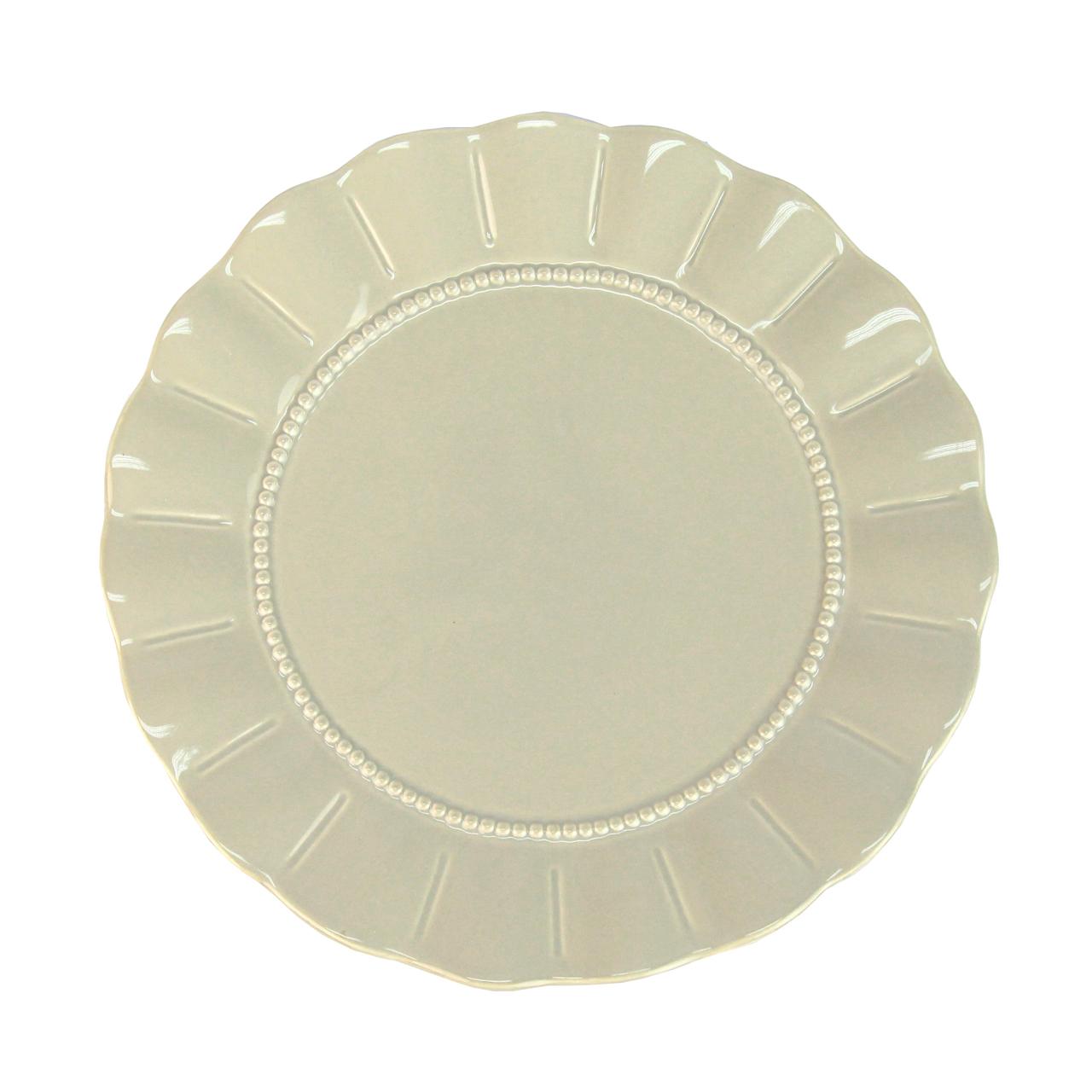 Farfurie Intinsa Din Ceramica Gri 25 Cm