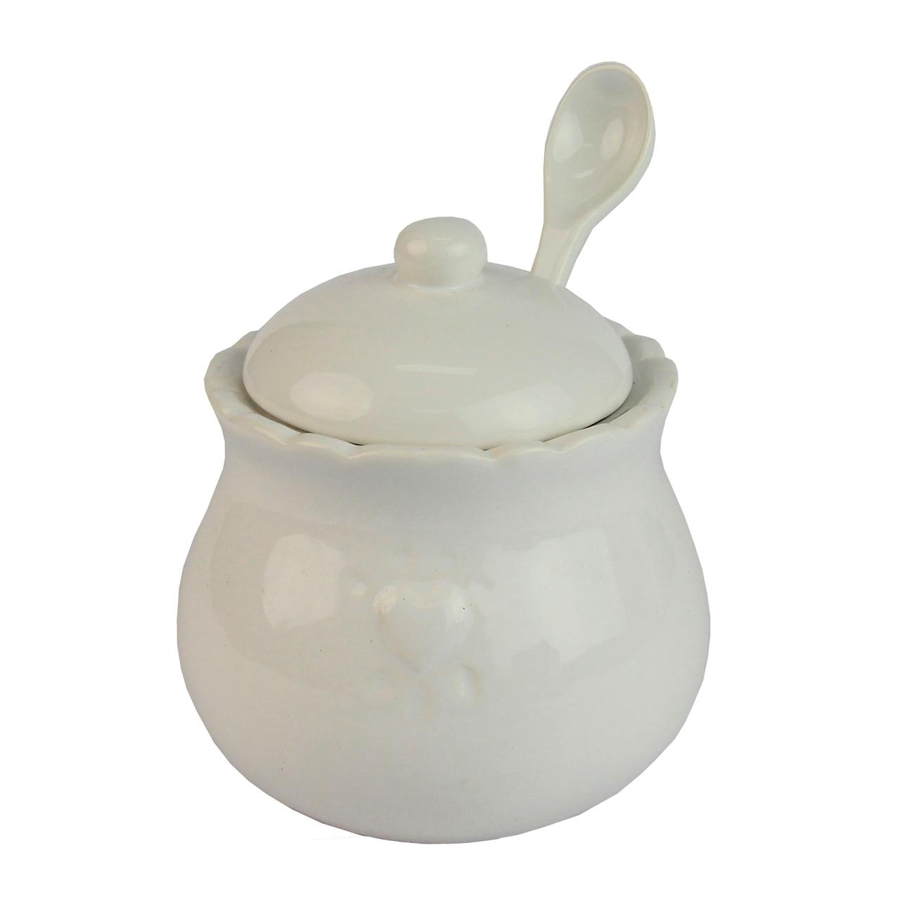 Recipient Pentru Zahar Cu Lingurita Din Ceramica A