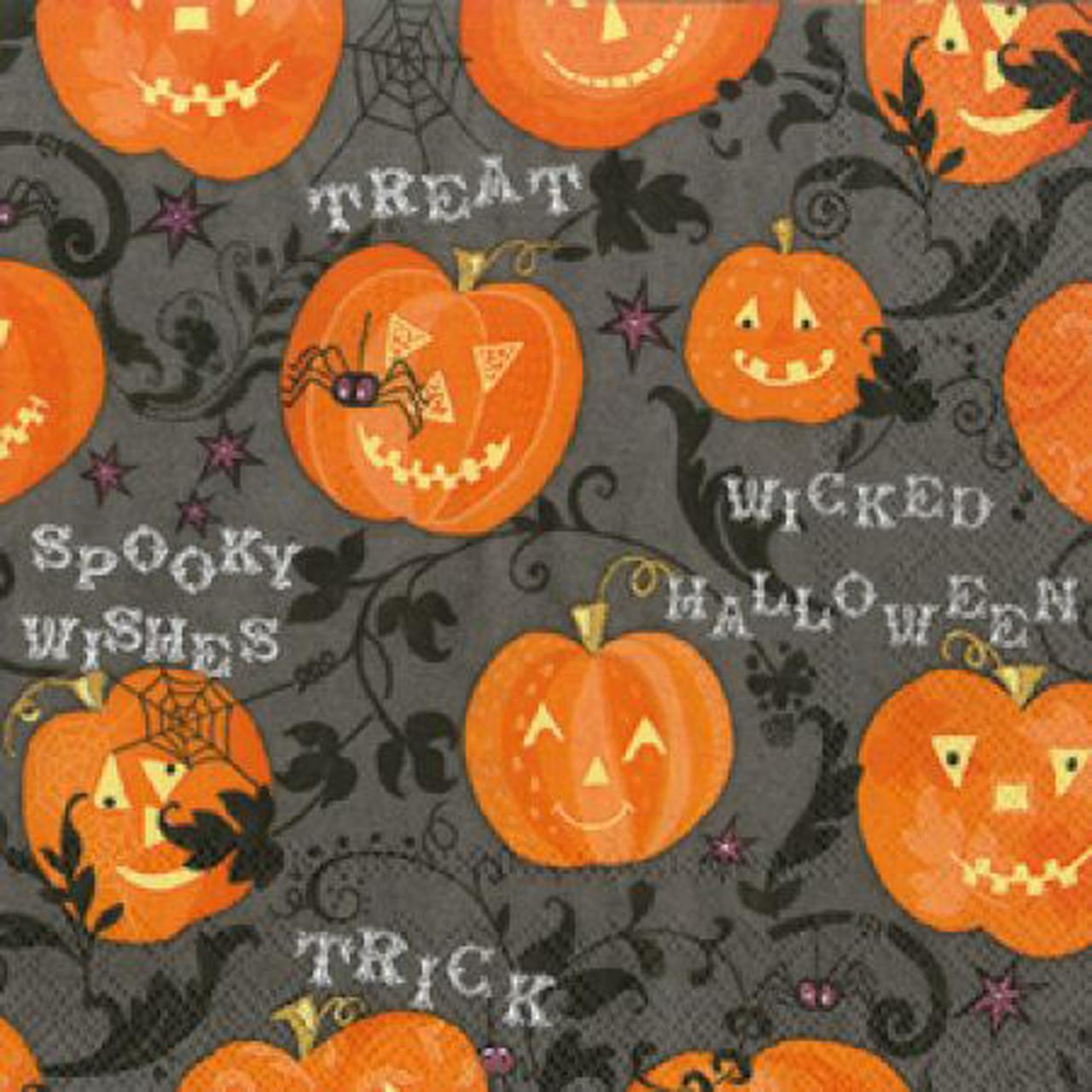 Servetele Decorative Din Hartie Cu Halloween 25 Cm