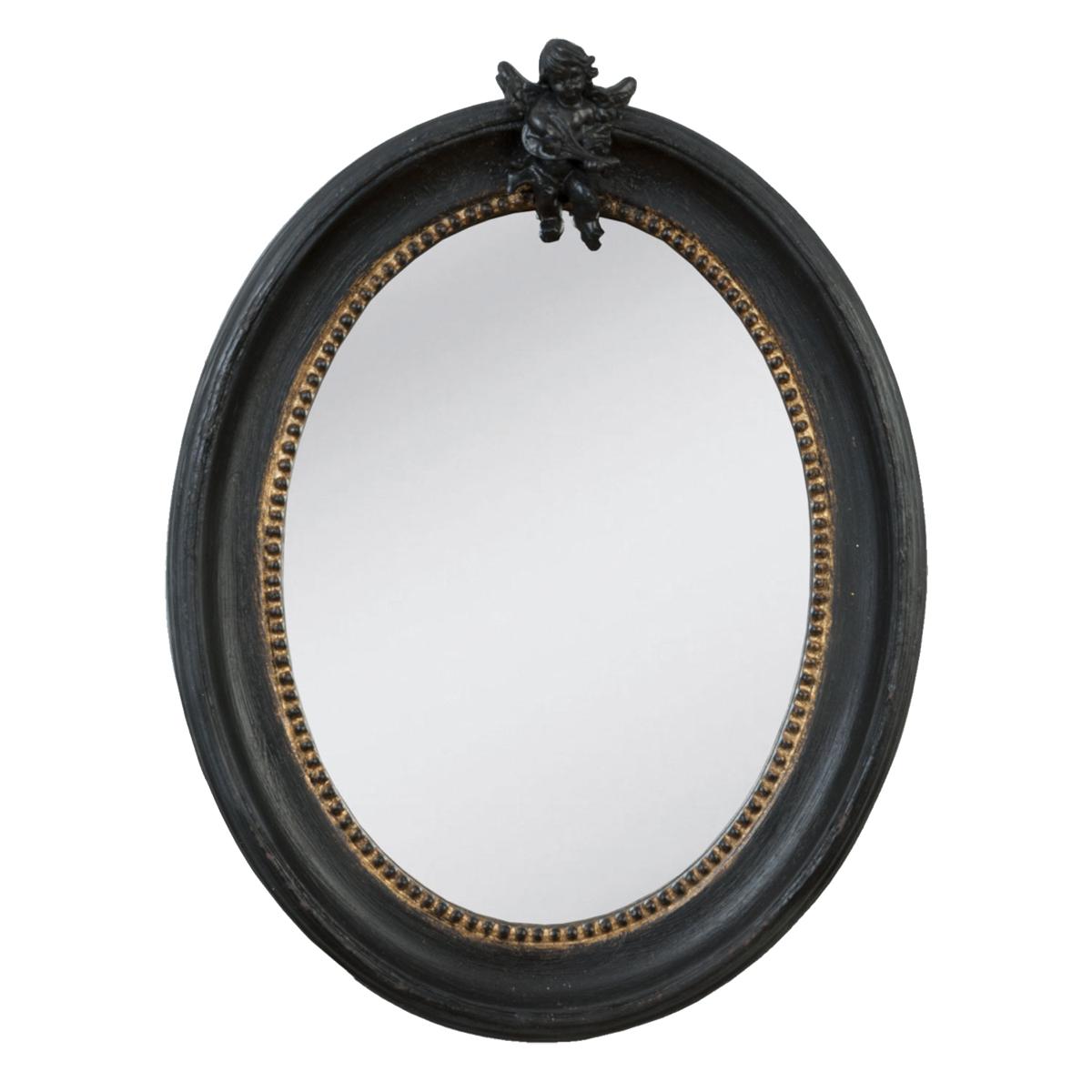 Oglinda Din Lemn Negru 30x40 Cm