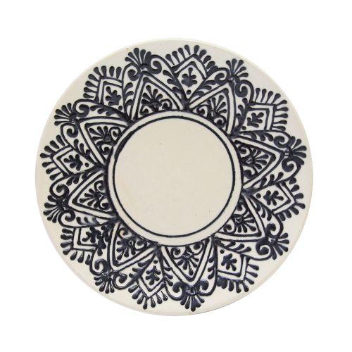 Farfurie Blue Rustiq Din Ceramica 13.5 Cm