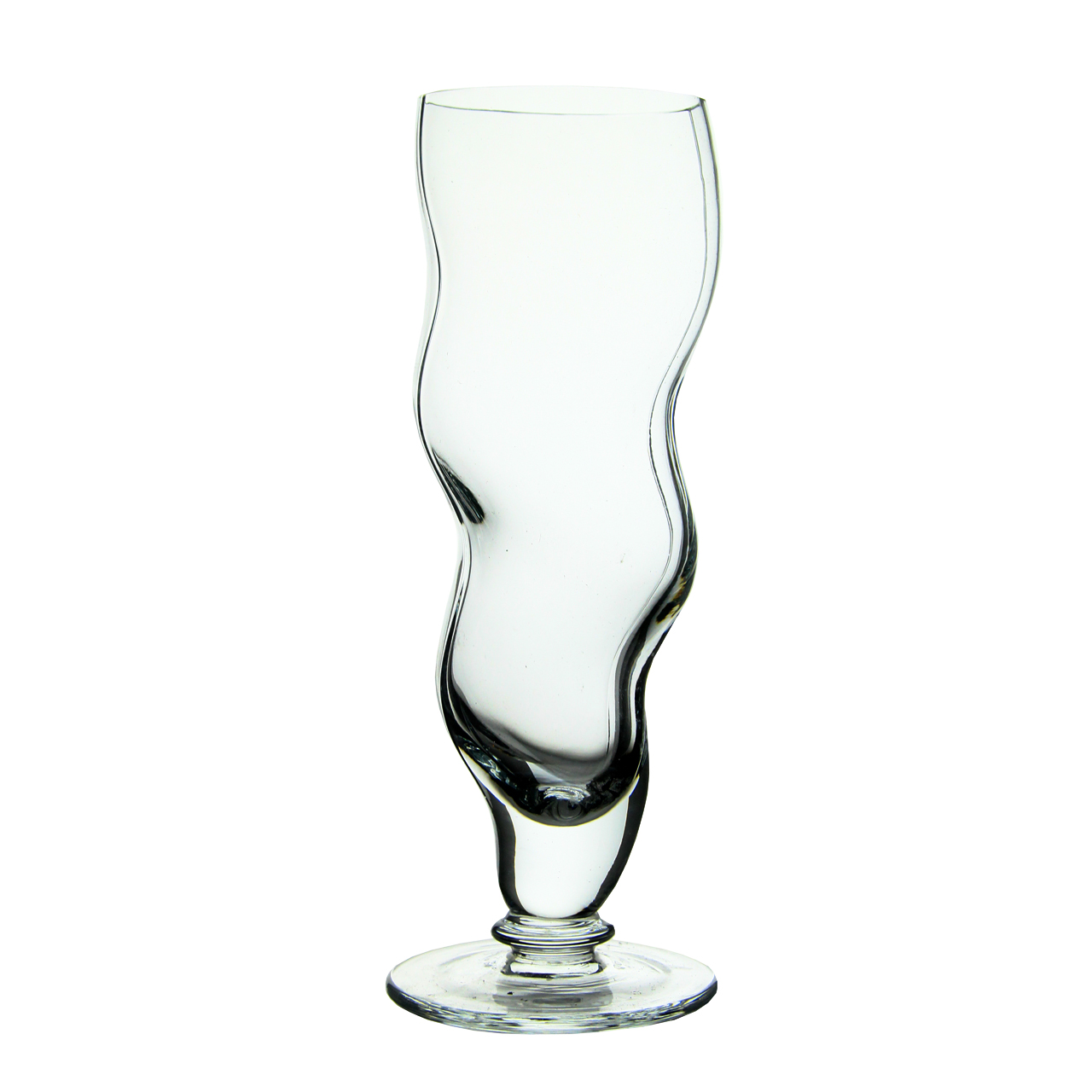Pahar Curbat Cu Picior Din Cristal 21 Cm
