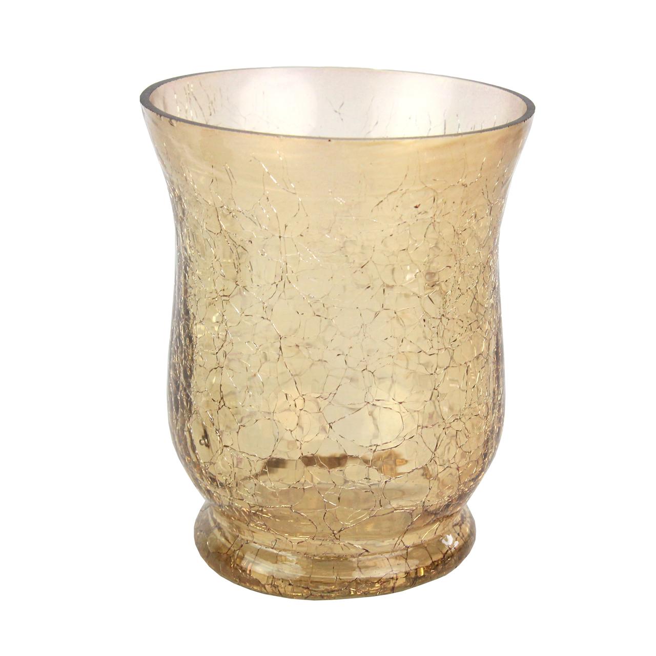 Candela Din Sticla Aurie 11 Cm
