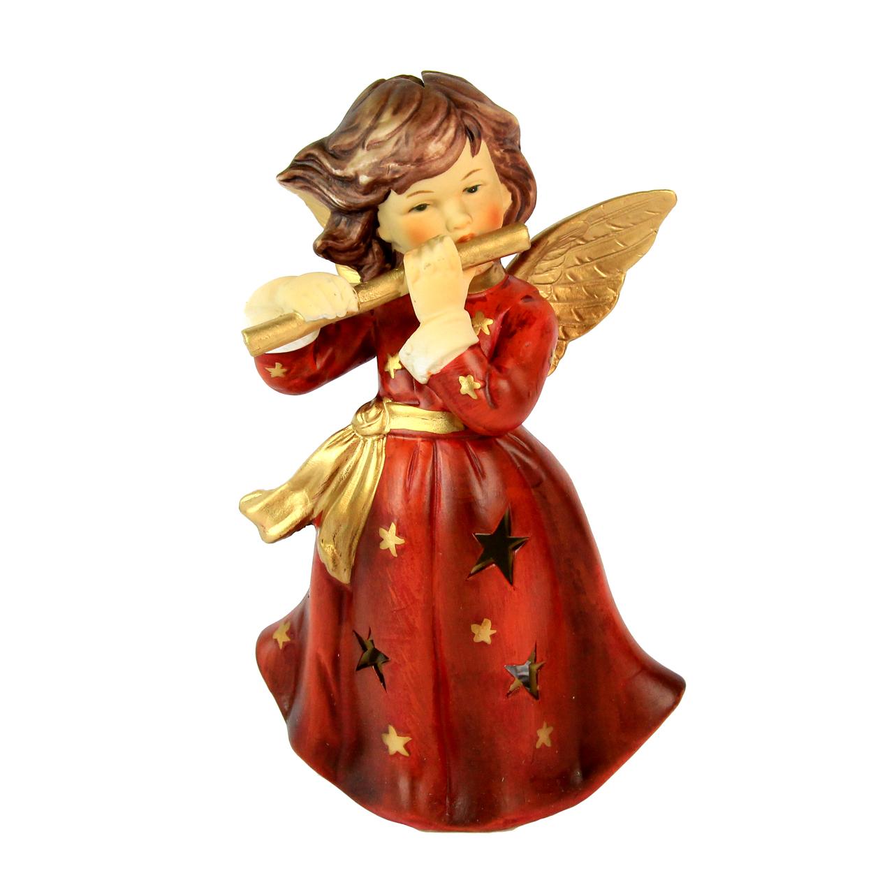 Decoratiune Inger Cu Fluier Din Ceramica Rosie 18