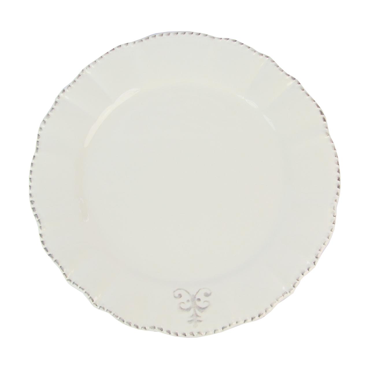 Farfurie Din Ceramica Alba 25.5 Cm