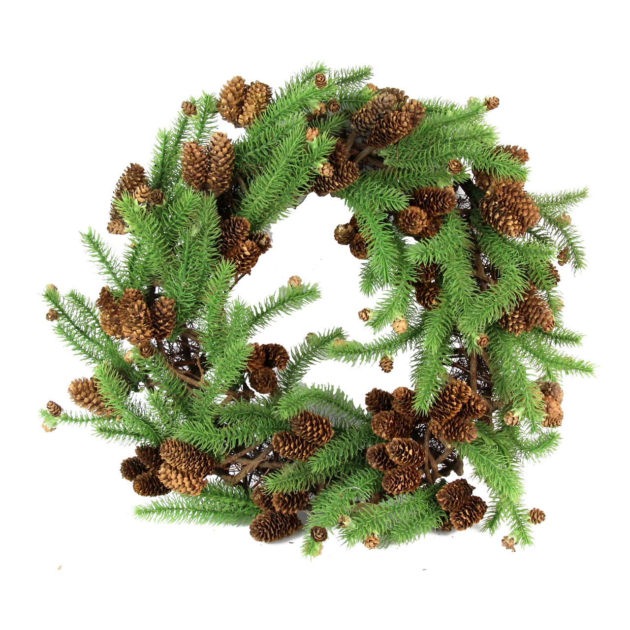 Coronita Din Lemn Si Plastic Verde Cu Maro 48 Cm
