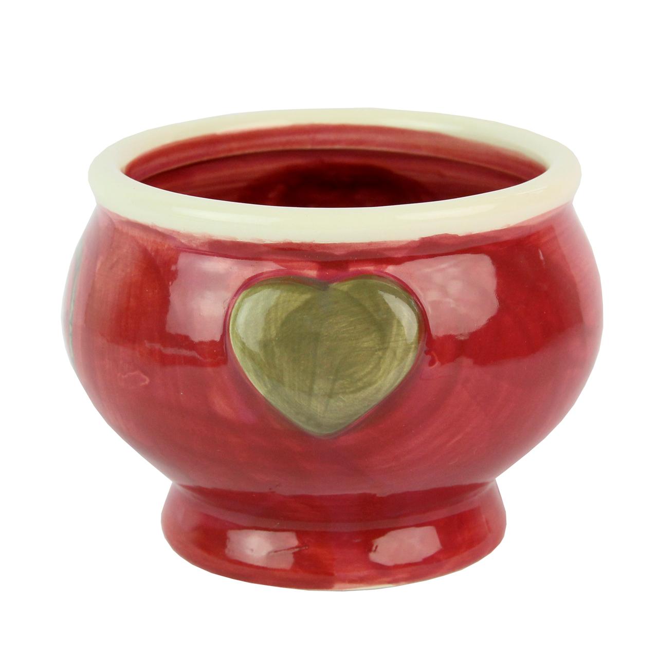 Bol Din Ceramica Rosie 12 Cm
