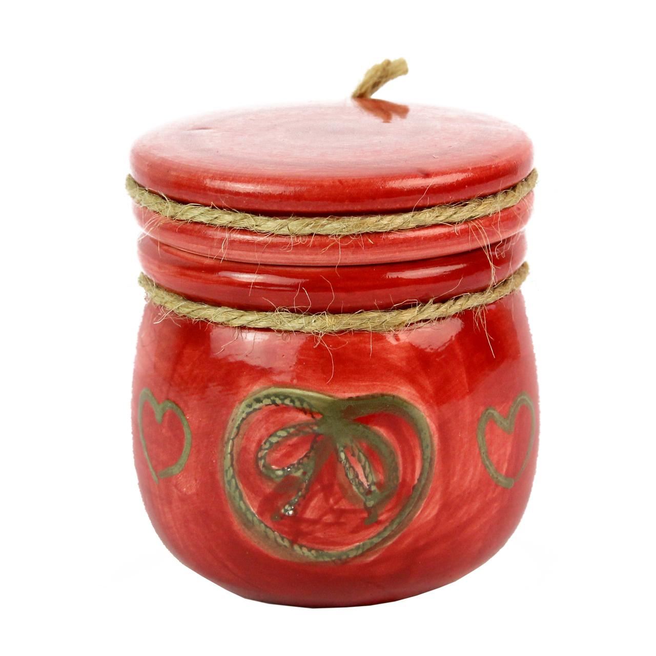 Recipient Din Ceramica Rosie 7.5 Cm