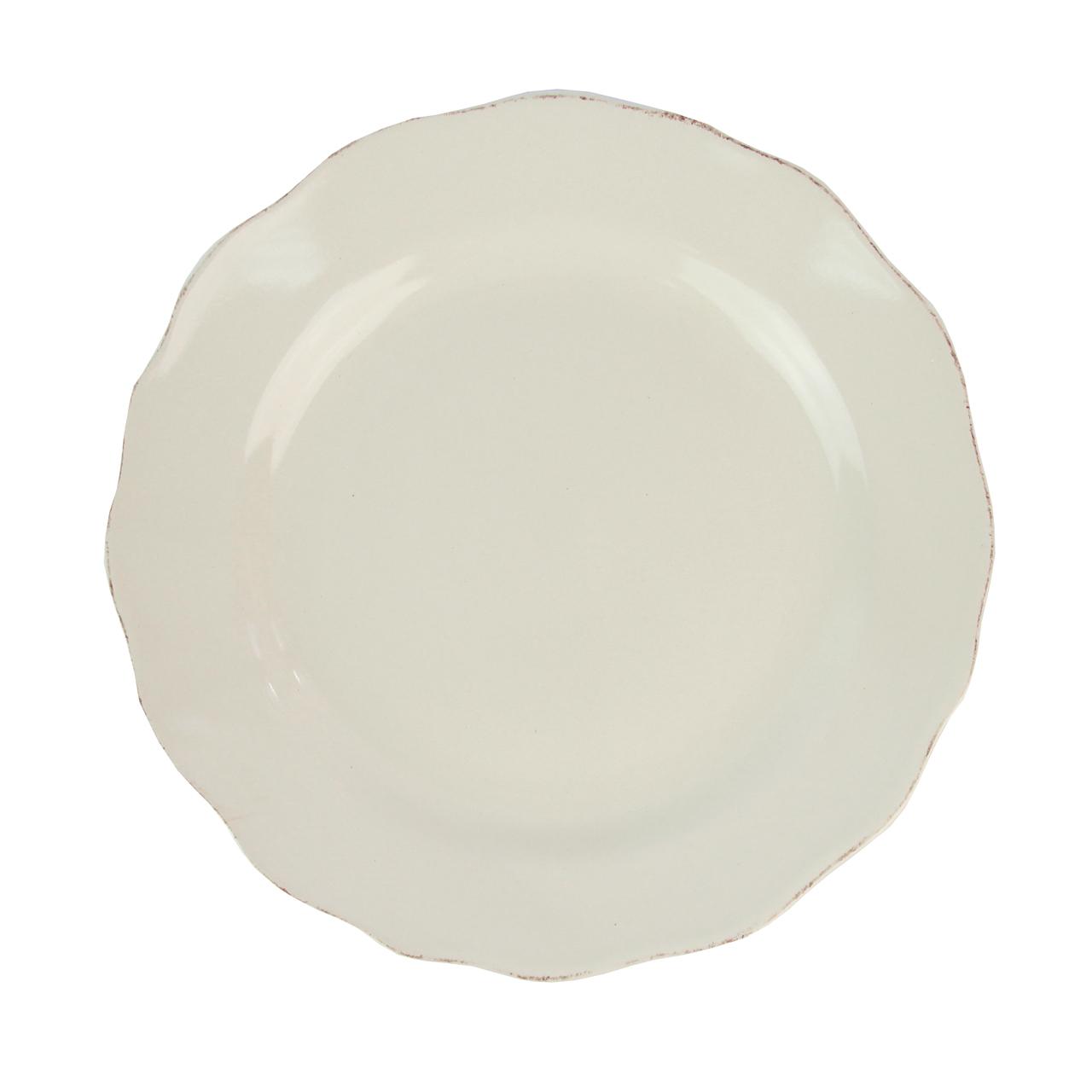 Farfurie Plata Din Ceramica Bej 21 Cm