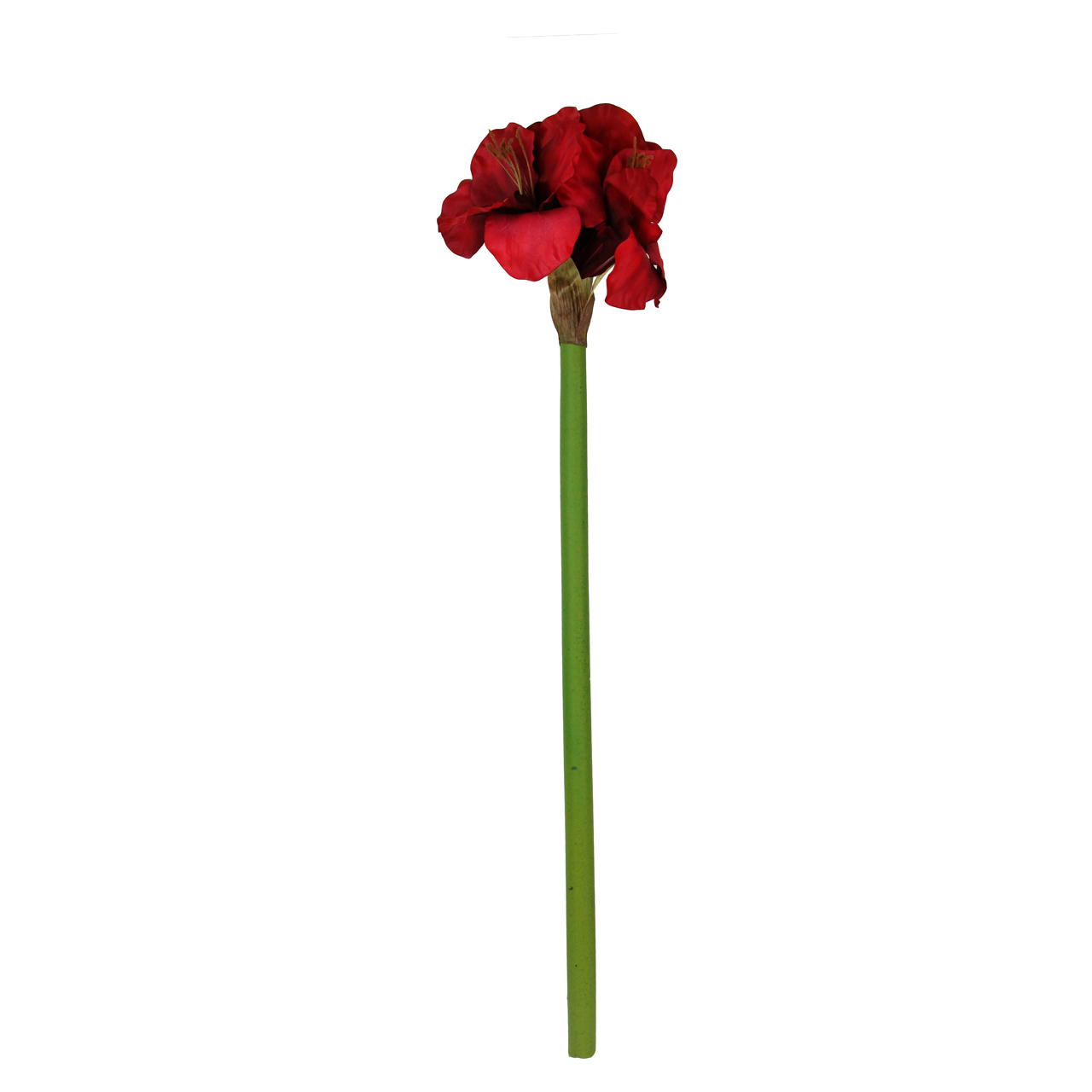 Floare Artificiala Amaryllis Rosie 72 Cm