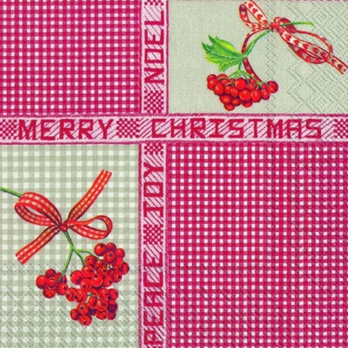 Servetele Decorative Din Hartie Cu Craciun 25 Cm