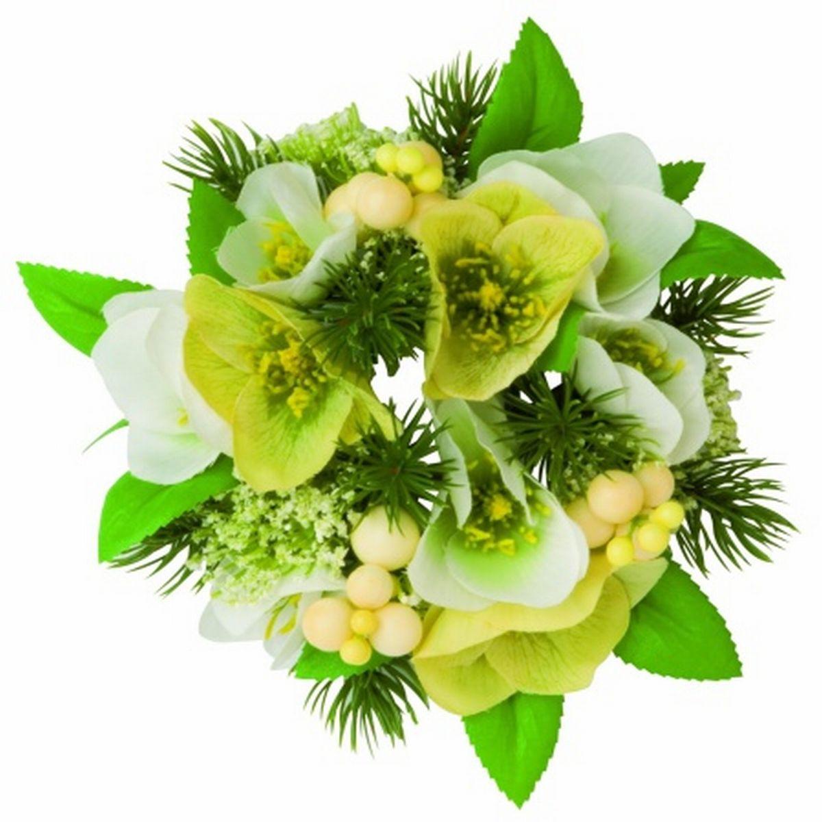 Coronita Cu Floare Spanz Pentru Lumanare 18 Cm