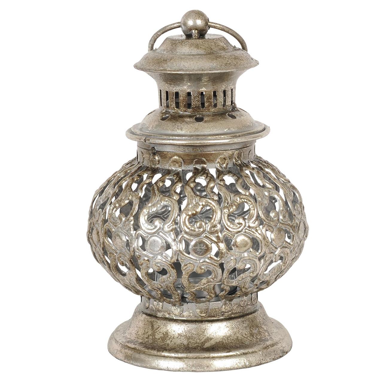 Candela Din Metal Argintiu 20 Cm