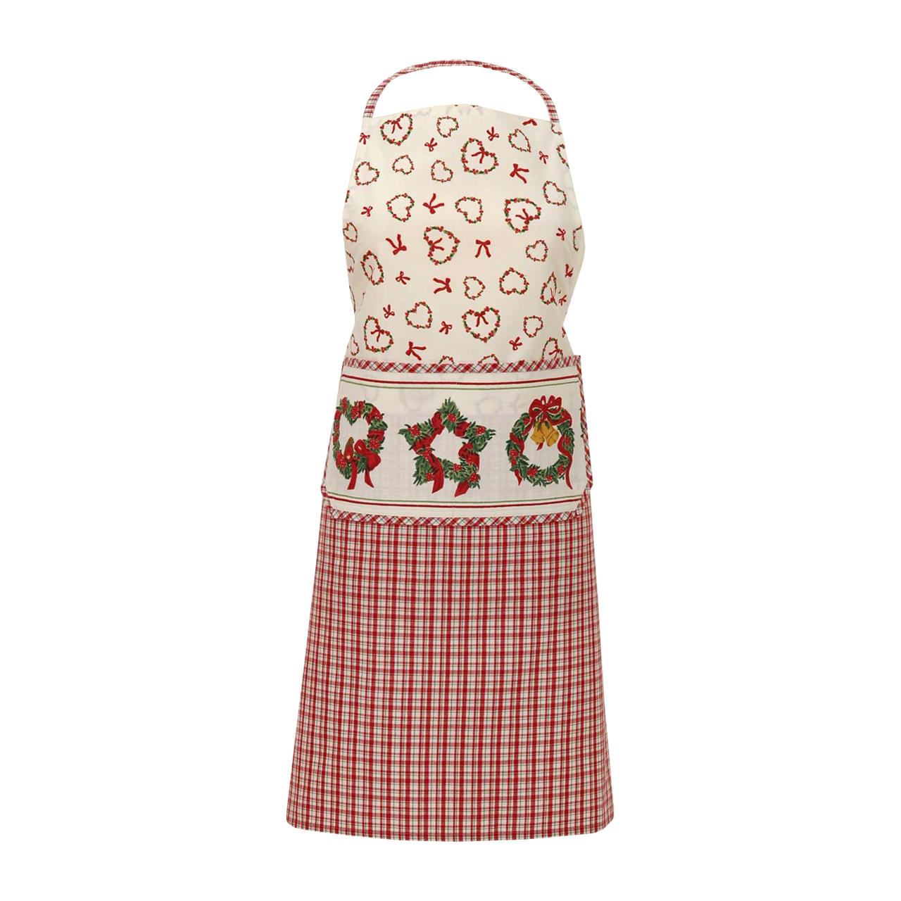Sort De Bucatarie Din Textil Cu Coronite Si Inimi 85 Cm