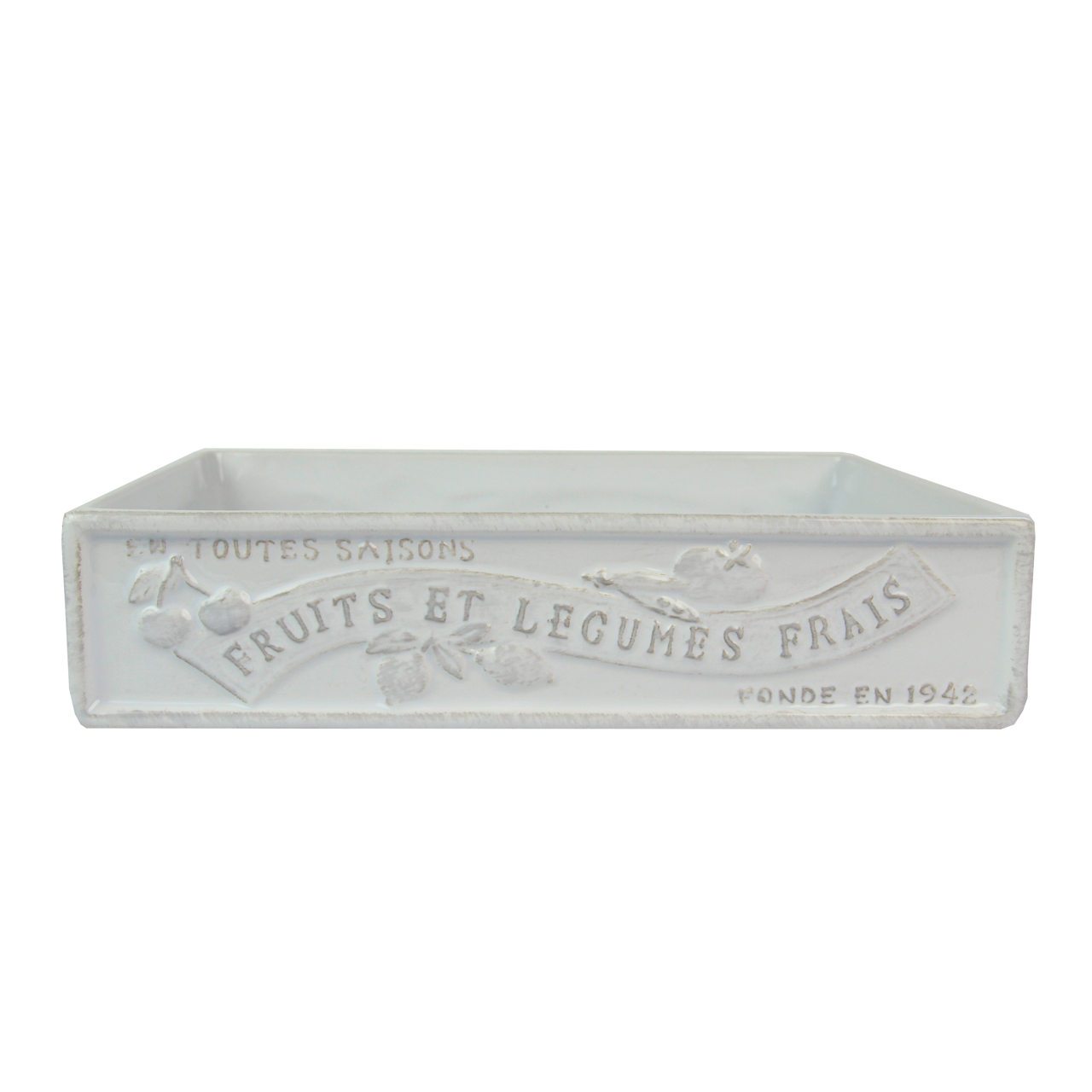 Fructiera Din Ceramica Alba 30x20 Cm