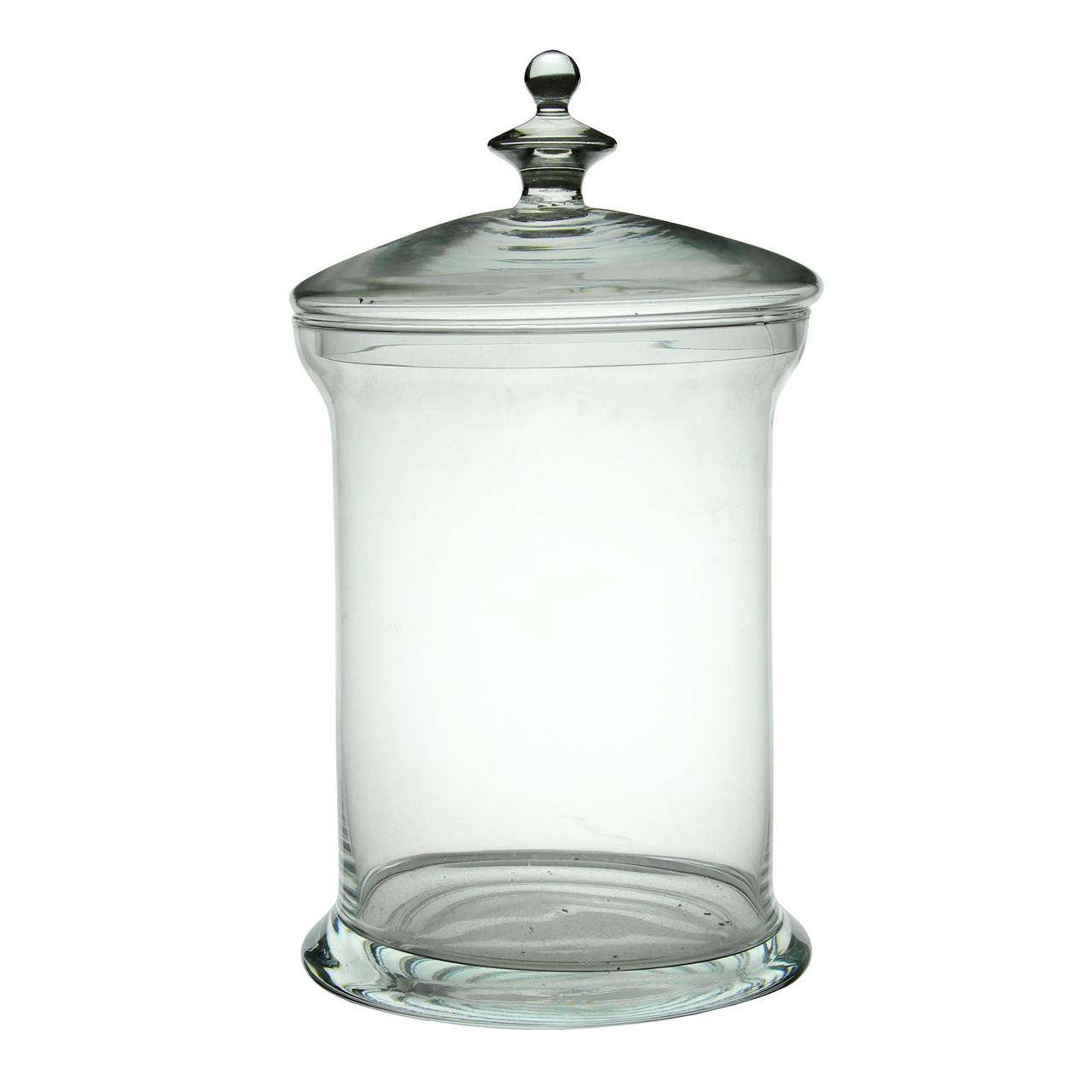 Recipient Din Sticla Cu Capac 23 Cm