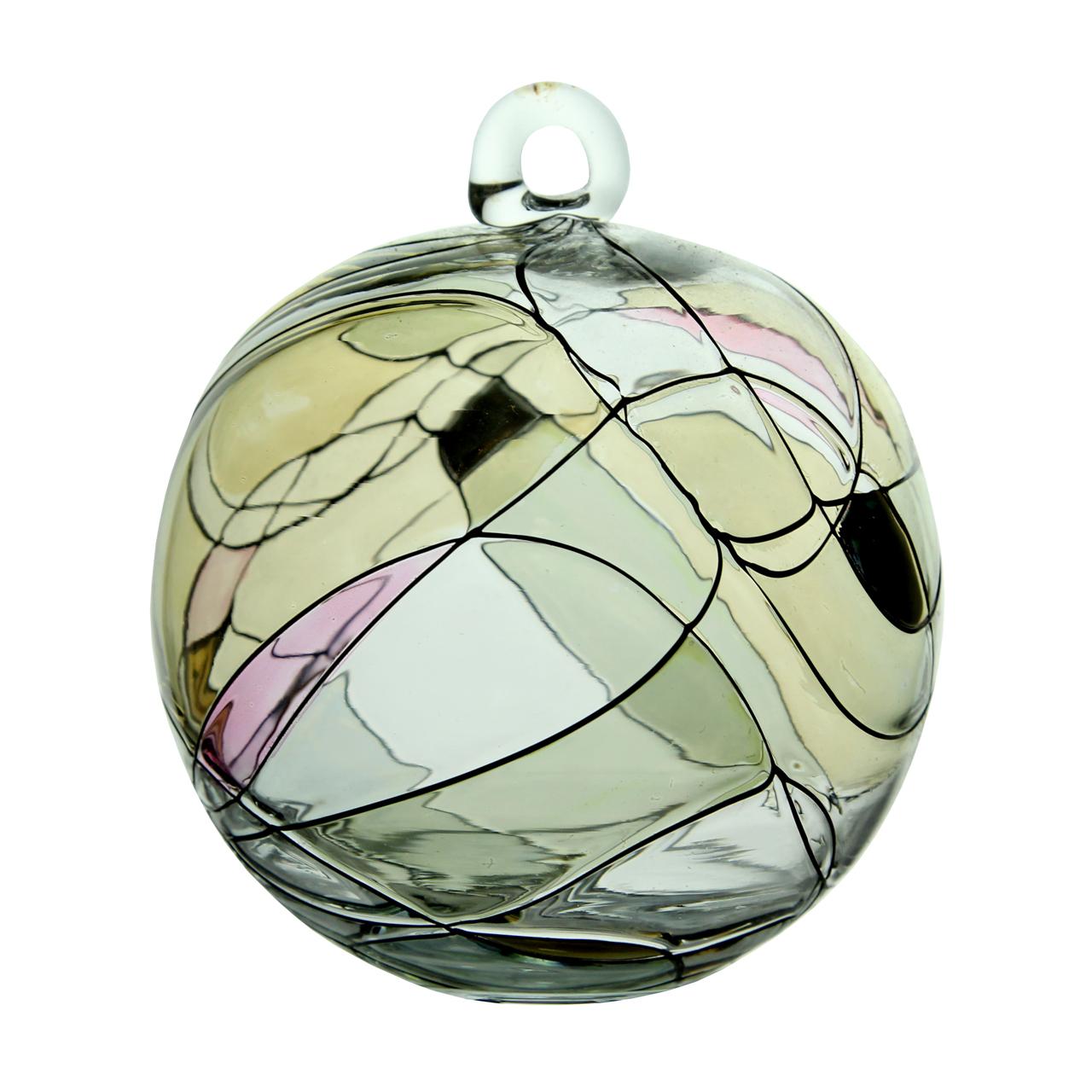 Decoratiune Glob Rotund Din Sticla