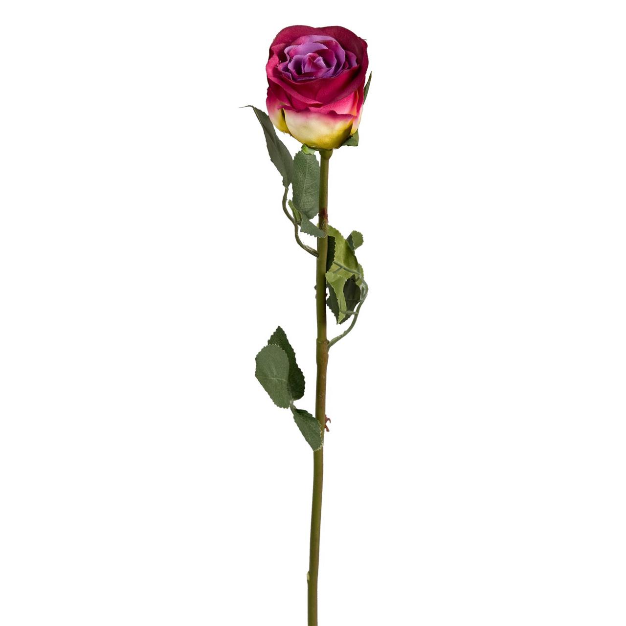 Floare Artificiala Trandafir Visiniu 60 Cm